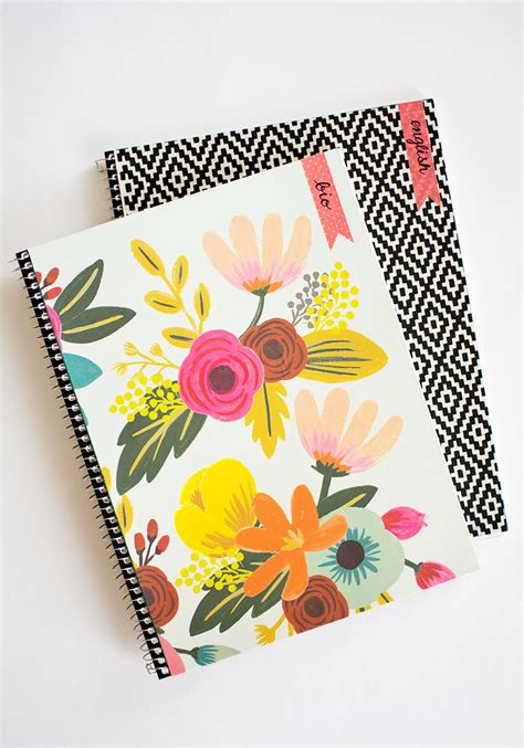 Decorating Notebooks For School by Diy Customizable Notebooks For Back To School Pottery Barn