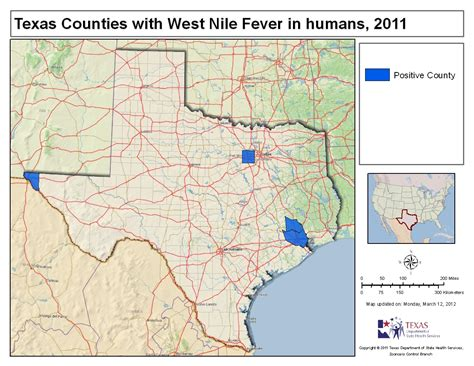 map of west texas counties 2011 texas west nile virus maps