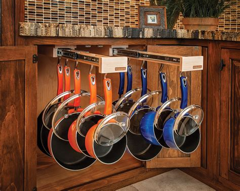 glideware pull out cabinet organizer for pots and pans glideware simplifies accessible storage remodeling