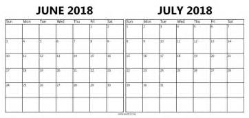 Calendar 2018 June July Calendar June July 2018 Mathmarkstrainones