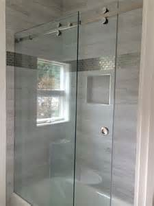 modern sliding glass shower doors frameless sliding shower enclosures modern bathroom
