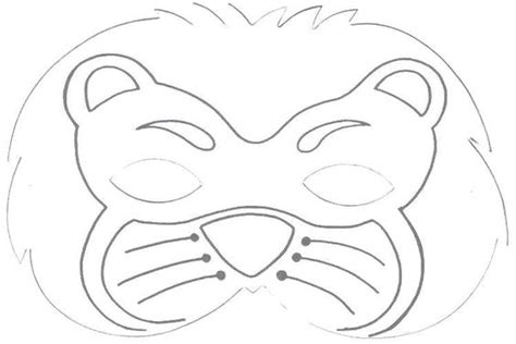 printable hyena mask template lion mask printable roar pinterest worksheets lion