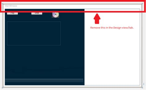 border layout xaml how do i remove the border of a wpf window in the design