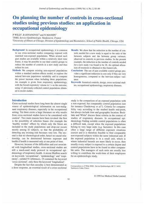 cross sectional study pdf on planning the number of controls in cross sectional