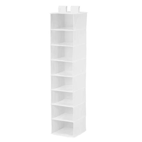 White Hanging Shelves Honey Can Do 8 Shelf Hanging White Polyester Organizer Sft