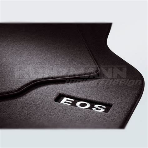 volkswagen genuine floor mats premium with eos lettering
