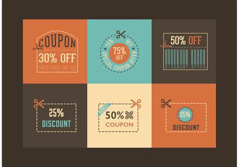 free retro coupon designs vector download free vector