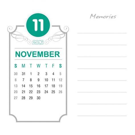 Calendario Noviembre 2016 Calendario Noviembre 2016 Vintage Descargar Vectores Gratis