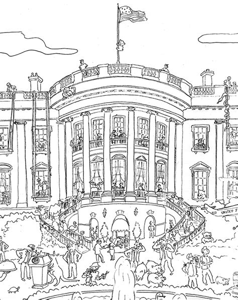 white house coloring page printable white house coloring pages printable coloring pages design