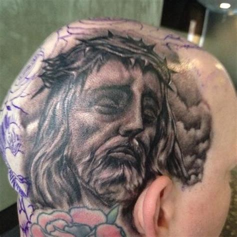 big gus tattoos black and gray realistic portrait of jesus by big