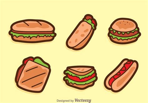Vector Sandwich Cartoon Icons - Download Free Vector Art ... Free Clip Art Meatball