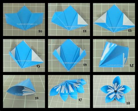 Flower Origami Step By Step - craft ideas for all kusudama flowers in a vase