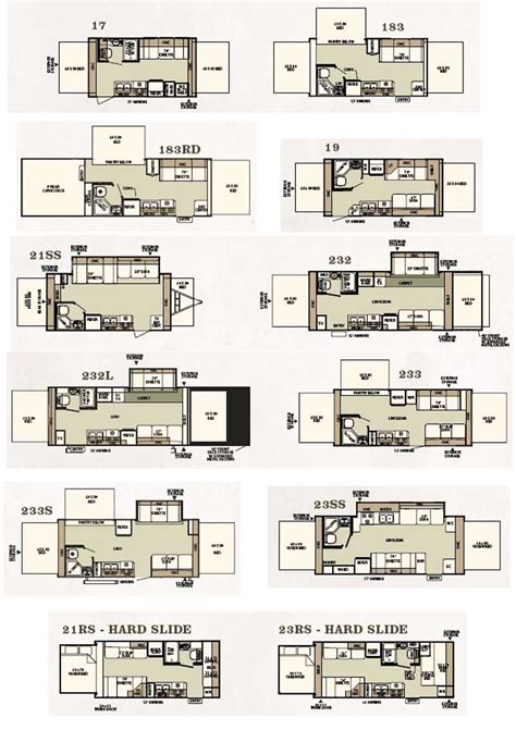 expandable rv floor plans forest river shamrock expandable travel trailer floorplans