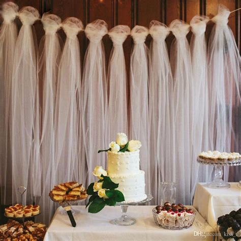 100 yards tulle wedding backdrop wedding decoration 15cm tulle roll outdoor ceremony photography