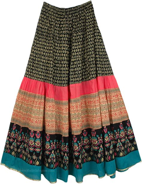 Dress Monza Pink navy seal cotton printed skirt crinkle