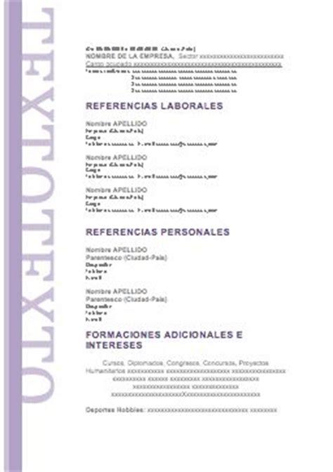 Modelo Curriculum Vitae Para Universidad 1000 ideas sobre descargar curriculum vitae en