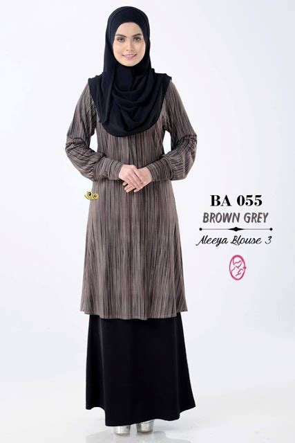 R Baju Atasan Blouse Wanita Muslim Daily Shirt norzi beautilicious house nbg002 blouse aleeya iii nursing friendly
