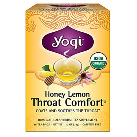 yogi throat comfort yogi tea lemon throat comfort tea ayurvedic herbs