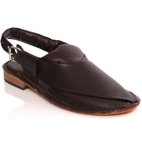 unze mens sandler handmade leather flat peshawari sandals
