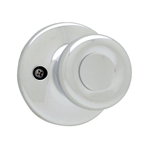 shop kwikset tylo polished chrome dummy door knob at lowes