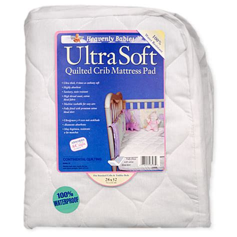 Crib Mattress Topper Soft Kid Ding Waterproof Ultra Soft Quilted Crib Mattress Pad Walmart