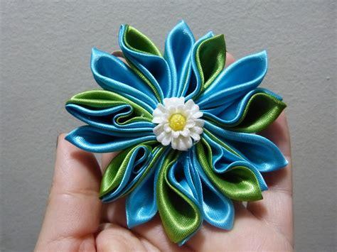 vomo hacer flores en cinta de agua como hacer flor de tela kanzashi how to make flower diy