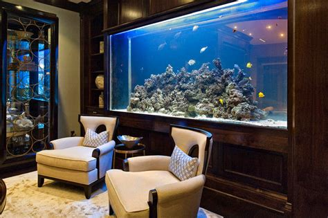 the home aquarium for a unique interior feature