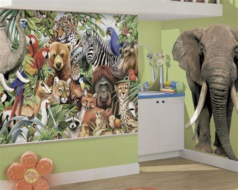 animal wall mural jungle animals bliss wall mural