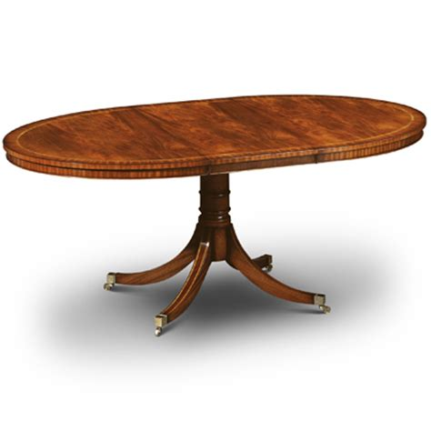 small oval extending dining table mahogany w161 robson