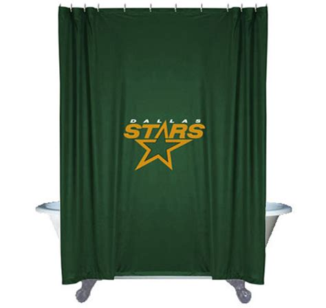 hockey shower curtain nhl dallas stars shower curtain hockey bathroom accessories