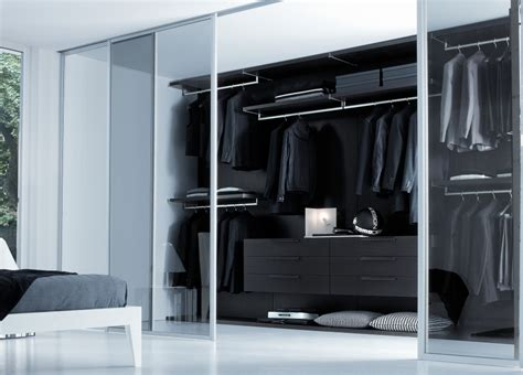 Smoked Glass Sliding Wardrobe Doors smoked glass walk in wardrobe wardrobes walk in