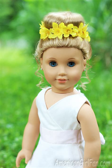 americangirlfan doll hairstyles doll hairstyle bun with flower crown americangirlfan