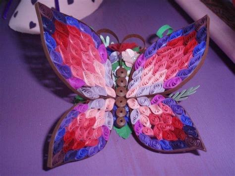 paper butterfly craft ideas paper crafts ideas project on craftsy quilled 3d