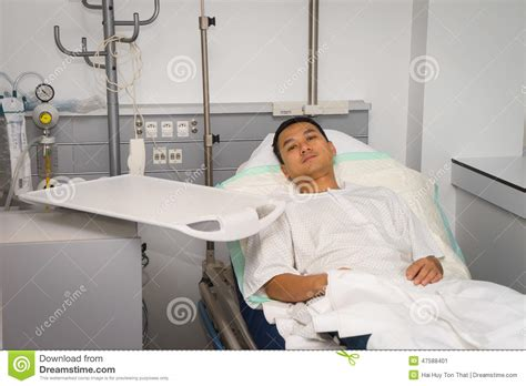 guy in hospital bed man in hospital bed stock photo image 47588401