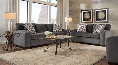 grey living room sofa sets cabinet hardware room lucan gray 5 pc living room living room sets gray