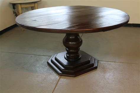 farm table with octagonal pedestal base