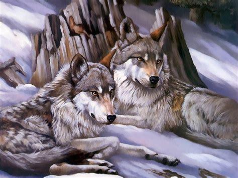 Imagenes De Animales Lobos | lobos en invierno fondos de pantalla animales fondos