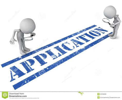 a review of the application under review stock illustration illustration of scrutinize 32338289