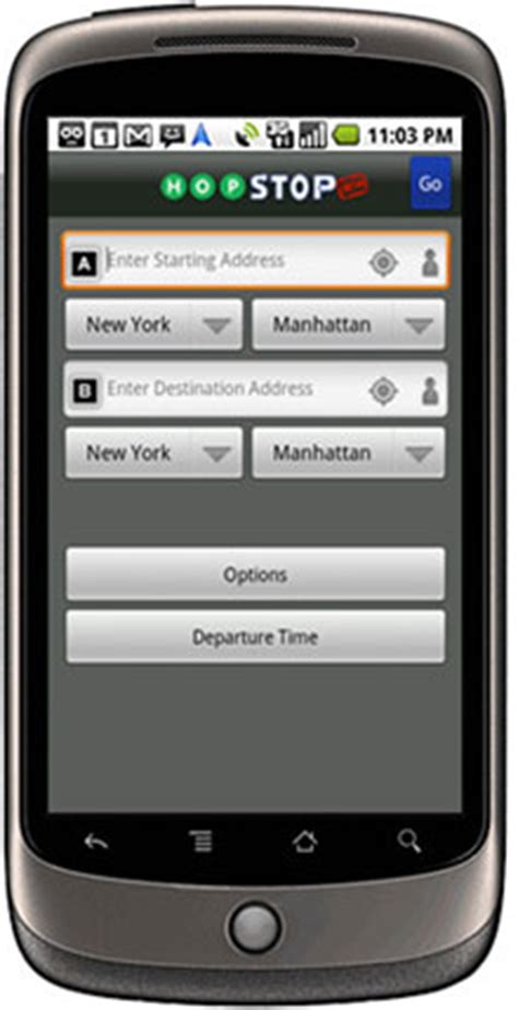 hopstop android mta news app of the week hopstop