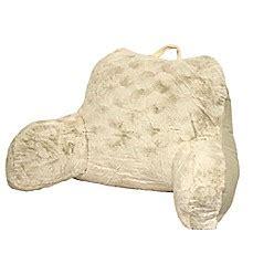 bed bath and beyond husband pillow premium backrest pillow crystal faux fur backrest bed bath beyond