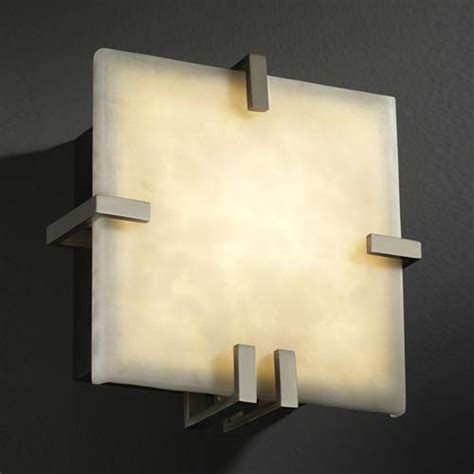 As Lu Dinding Triangle Led Wall Sconce Light Indoor L square 1000 lumen led wall sconce justice design flush to wall wall