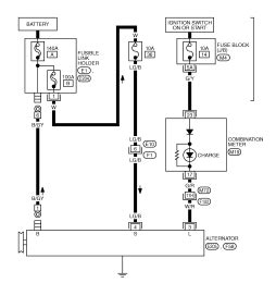 circuit wiring diagram for 2007 nissan 350z coupe charging and starting system