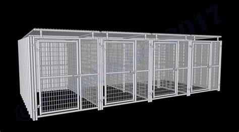 5x10 kennel multple kennels 4 run shed row style kennel w roof shelters 5 x10 rhino