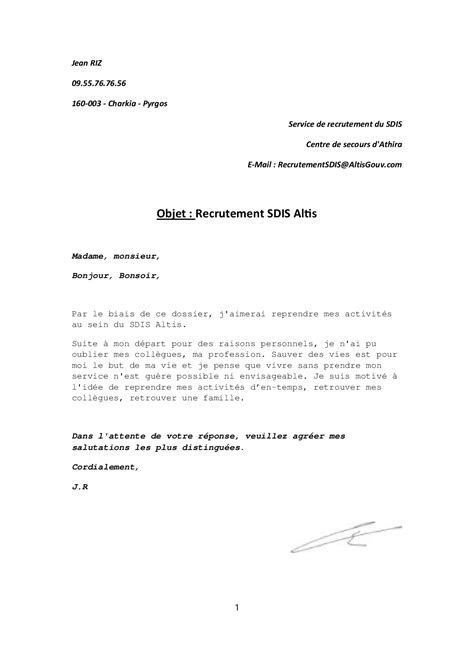 Lettre De Motivation De Sapeur Pompier Refuse Spp R 233 Int 233 Gration Jean Riz Agorapolis