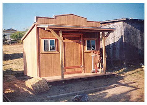 california custom sheds  western roof style