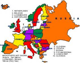 Map of europe countries