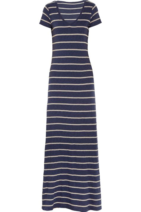 Maxi Stripe splendid striped jersey maxi dress in blue navy lyst