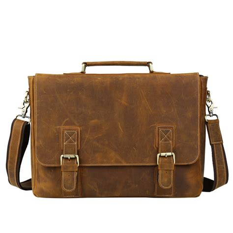 Handmade Laptop Bags - s handmade vintage leather briefcase leather