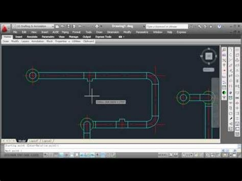 tutorial autocad piping pipe elbow etc drawing youtube