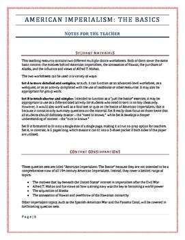 the quest for primary motives biography and autobiography of an idea american imperialism worksheet geersc